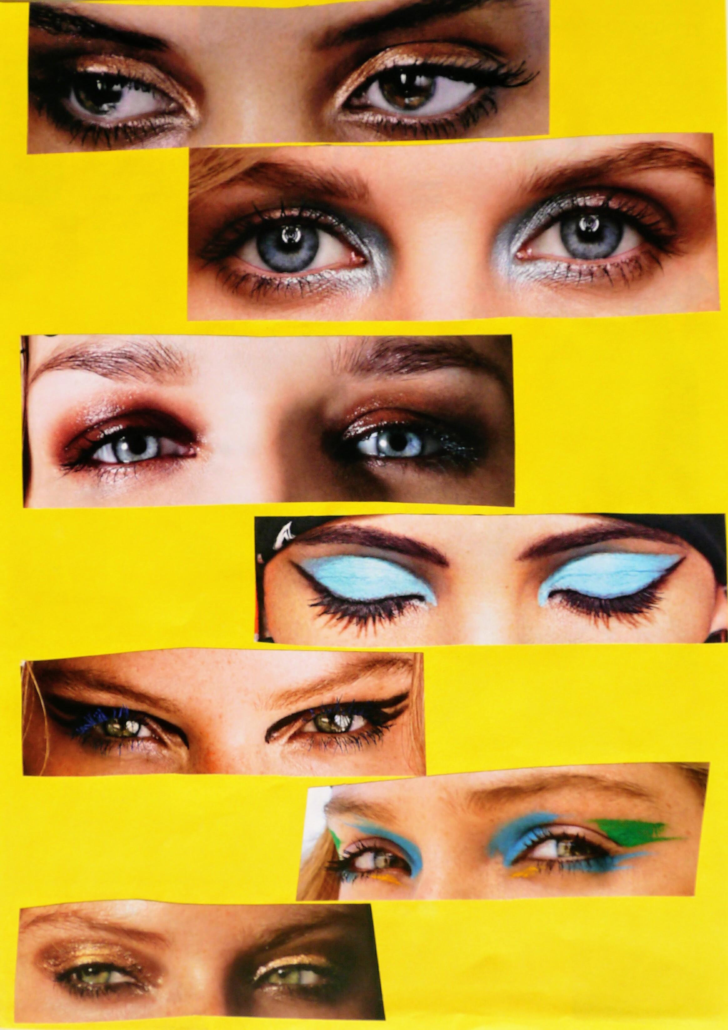 inspiration maquillage des yeux coloré